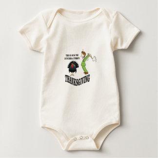 Body Para Bebê t-dia do peru do carniceiro