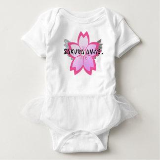 Body Para Bebê T do plissado da criança do anjo de Sakura