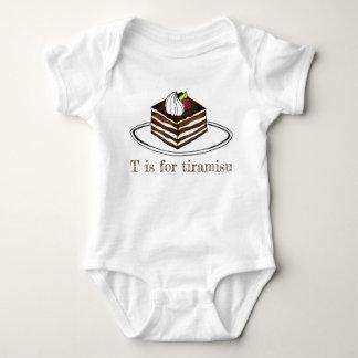 Body Para Bebê T é para o café italiano Foodie da sobremesa do