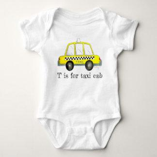 Body Para Bebê T é para o verificador da Nova Iorque do amarelo