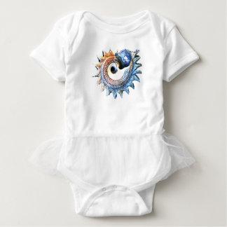 Body Para Bebê T espiral dourado da ioga do Seashell da mandala