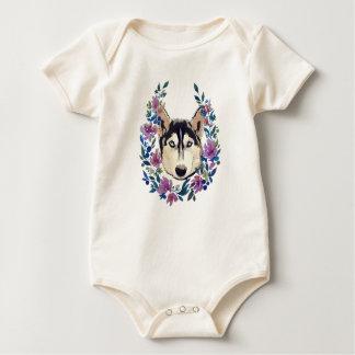 Body Para Bebê T floral ronco para o bebê