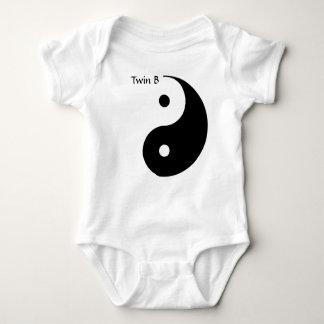 Body Para Bebê T para gêmeos - B gêmeo de Yin Yang