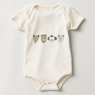 Body Para Bebê T pequeno do special dos animais