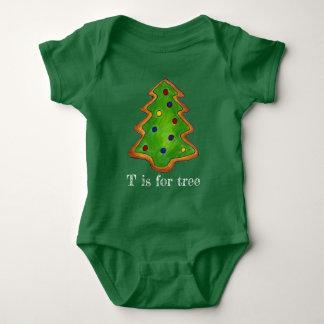 Body Para Bebê T realiza-se para o feriado do biscoito do verde