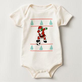 Body Para Bebê T-shirt 2018 feio do Natal da solha do futebol de