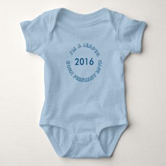 Body Para Bebê T-shirt - 29 de fevereiro para o menino