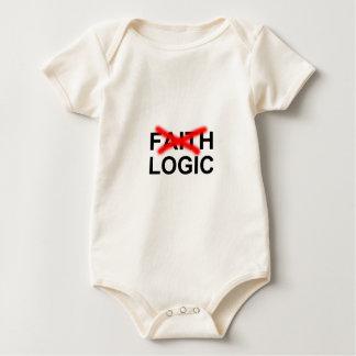 Body Para Bebê T-shirt da lógica da fé