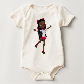 Body Para Bebê T-shirt da menina da escola do afro-americano