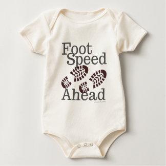 Body Para Bebê T-shirt da velocidade do pé adiante que caminha