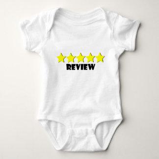 Body Para Bebê t-shirt de cinco estrelas do bebê da revisão
