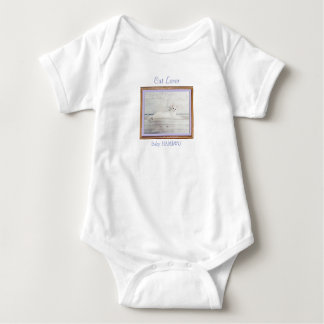 Body Para Bebê T-shirt de HAMbyWG - amante 3 do gato