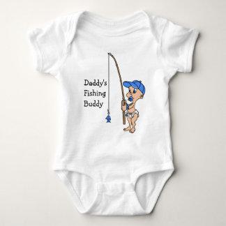 Body Para Bebê T-shirt do amigo da pesca do pai