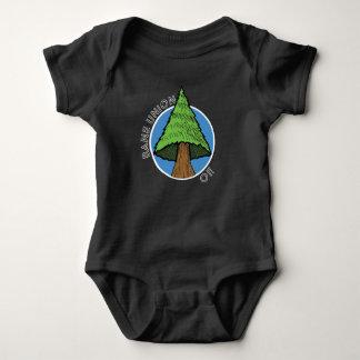 Body Para Bebê T-shirt do bebê - canção da árvore da união da