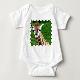 Body Para Bebê T-shirt do bebê da foto do girafa