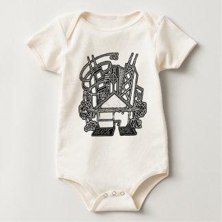 Body Para Bebê T-shirt do bebê da música da casa