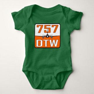 Body Para Bebê T-shirt do bebê de 757 DTW com fechamento