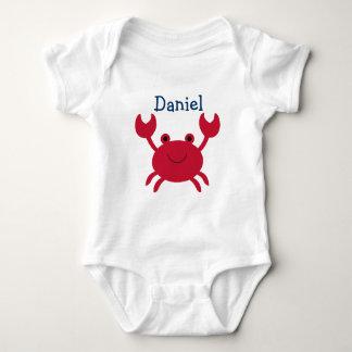 Body Para Bebê T-shirt do bebê do caranguejo do bebê
