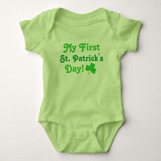Body Para Bebê T-shirt do bebê do dia | do meu primeiro St