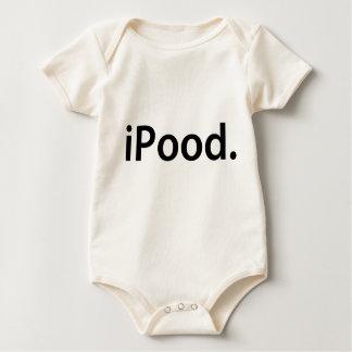 Body Para Bebê T-SHIRT do BEBÊ do iPood