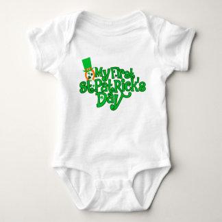 Body Para Bebê T-shirt do dia do meu primeiro St Patrick