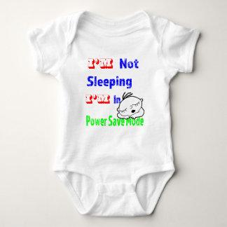 Body Para Bebê T-shirt do modo de economia de energia
