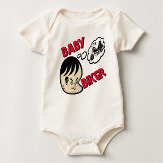 Body Para Bebê T-shirt do motociclista do bebê