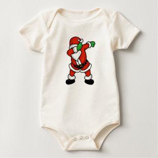 Body Para Bebê T-shirt do Natal da dança da solha de Papai Noel