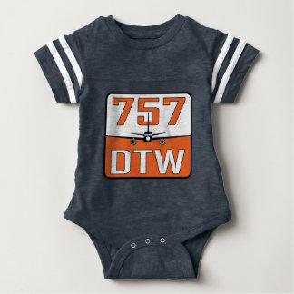 Body Para Bebê T-shirt do Pressão-Fim do bebê de 757 DTW