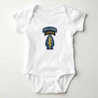 Body Para Bebê T-shirt do remendo das boinas verdes de forças