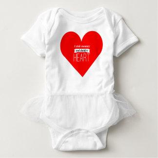Body Para Bebê T-shirt do tutu do bebê dos namorados
