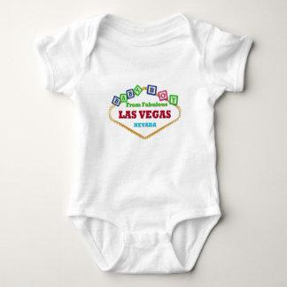 Body Para Bebê T-shirt dos blocos de Las Vegas do bebé