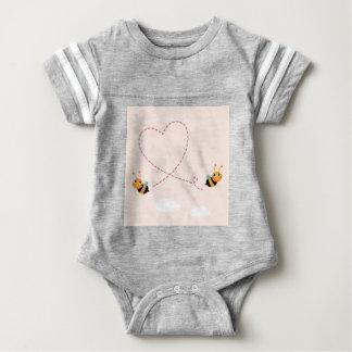 Body Para Bebê T-shirt dos DESENHISTAS com abelhas do amor