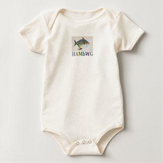 Body Para Bebê T-shirt dos peixes do Maccarel do bebé de HAMbWG