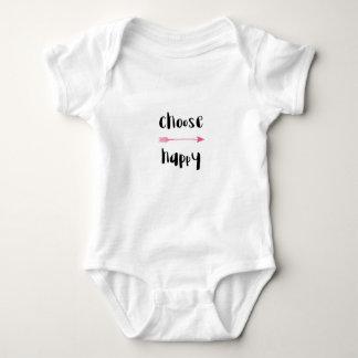 Body Para Bebê T-shirt feliz de Choos para o bebê