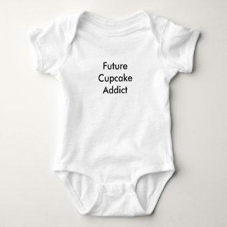 Body Para Bebê T-shirt futuro do bebê do viciado do cupcake!