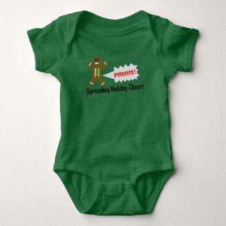Body Para Bebê T-shirt Gassy do homem de pão-de-espécie do Natal