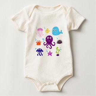 Body Para Bebê T-shirt ILUSTRADOS TIRADOS MÃO