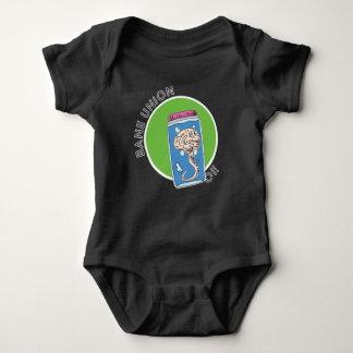 Body Para Bebê T-shirt infantil com logotipo da mente da união da