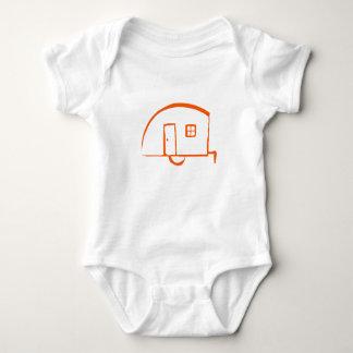 Body Para Bebê T-shirt infantil com o reboque da lágrima do