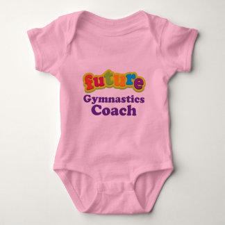 Body Para Bebê T-shirt infantil do bebê do treinador da ginástica