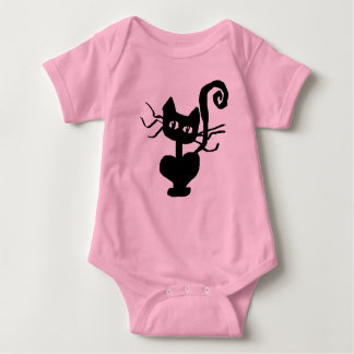 Body Para Bebê T-shirt infantil do Bodysuit do gatinho