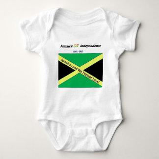 Body Para Bebê T-shirt jamaicanos da independência
