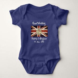 Body Para Bebê T-shirt real do Bodysuit do bebê de Harry & de
