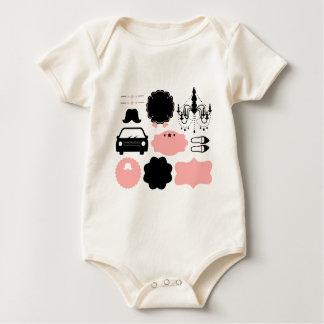 Body Para Bebê T-shirt surpreendentes dos bigodes do vintage