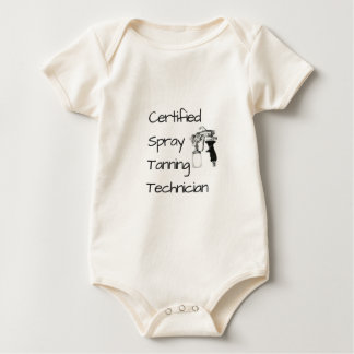 Body Para Bebê T-shirt Tanning certificado do técnico do