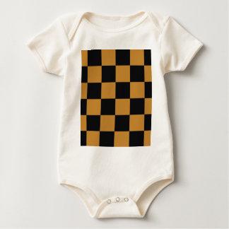 Body Para Bebê Tabuleiro de damas maduro da mostarda