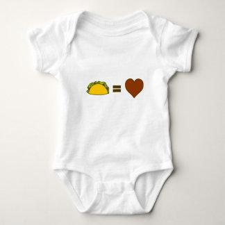 Body Para Bebê Taco=Love