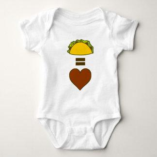 Body Para Bebê Tacos = amor
