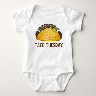 Body Para Bebê Tacos Foodie da comida de Tex Mex do mexicano de